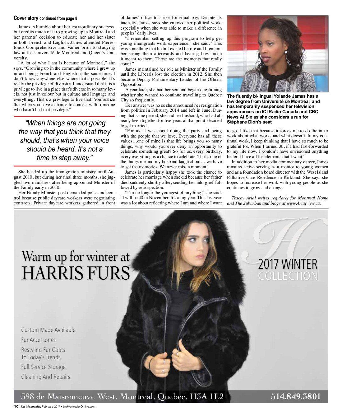 Yolande James Montrealer Story page 2