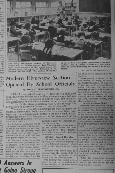 Riverview welcomed in 1962; to close in 2016. Photo of article courtesy of Rohinton Ghandi.