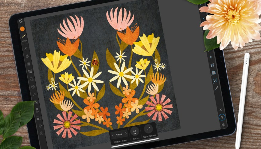 New Skillshare Class: Symmetrical Florals With the Symbols Studio in Affinity Designer for iPad