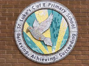 Interpretation of the School's Logo, St. Luke's, Cannock, Staffordshire 2016