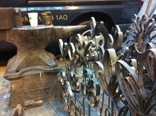 designs created in forged steel, ready to send for galvanising