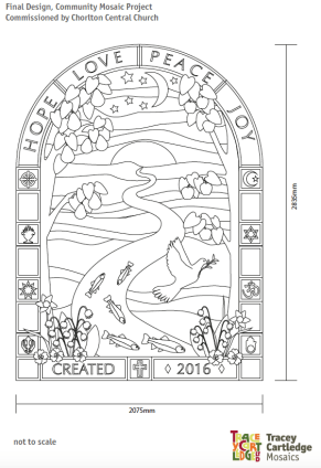 The final design for the mosaic, agreed with the church committee