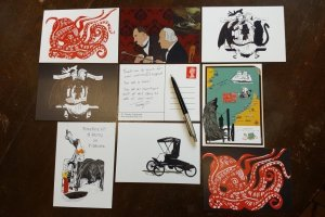 Set of 8 postcards
