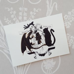 Coat of Arms postcard on white