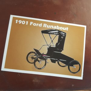 1901 Ford Runabout sticker