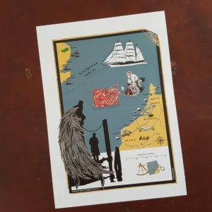 Timeline 67 North Sea Map sticker