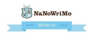 Poster for NaNoWriMo Come Write In