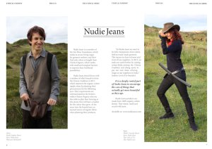 Double page spread for Nudie Jeans