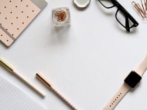desktop, stationary, pens
