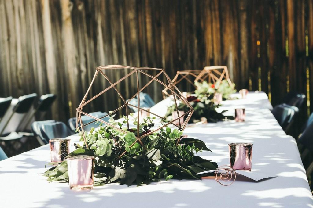 wedding, table, reception
