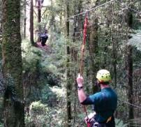 Upside down ziplining!
