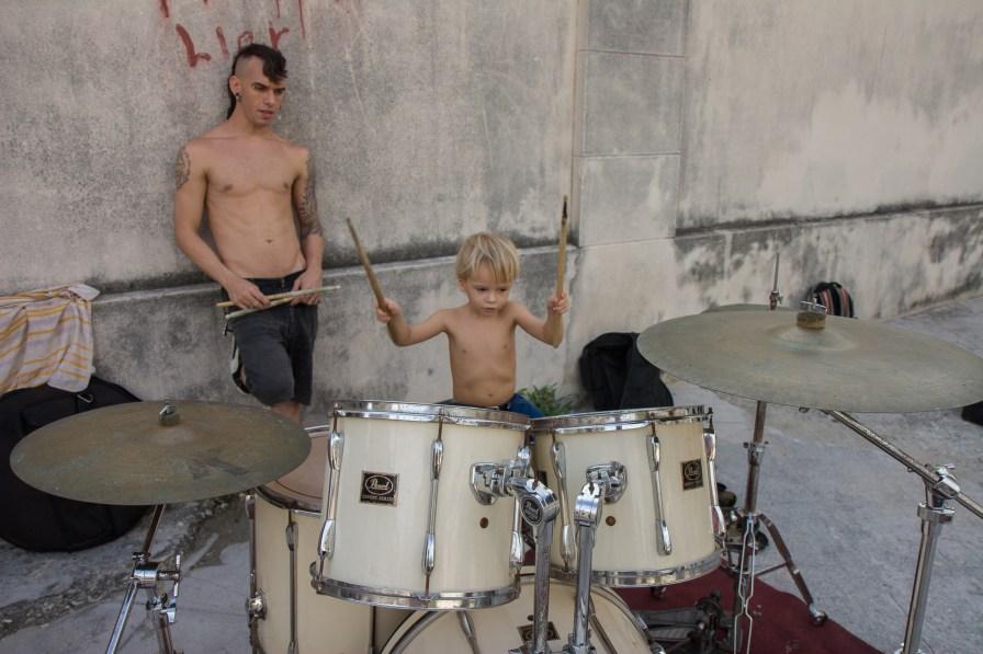 Alejandro and his son Jorgito.