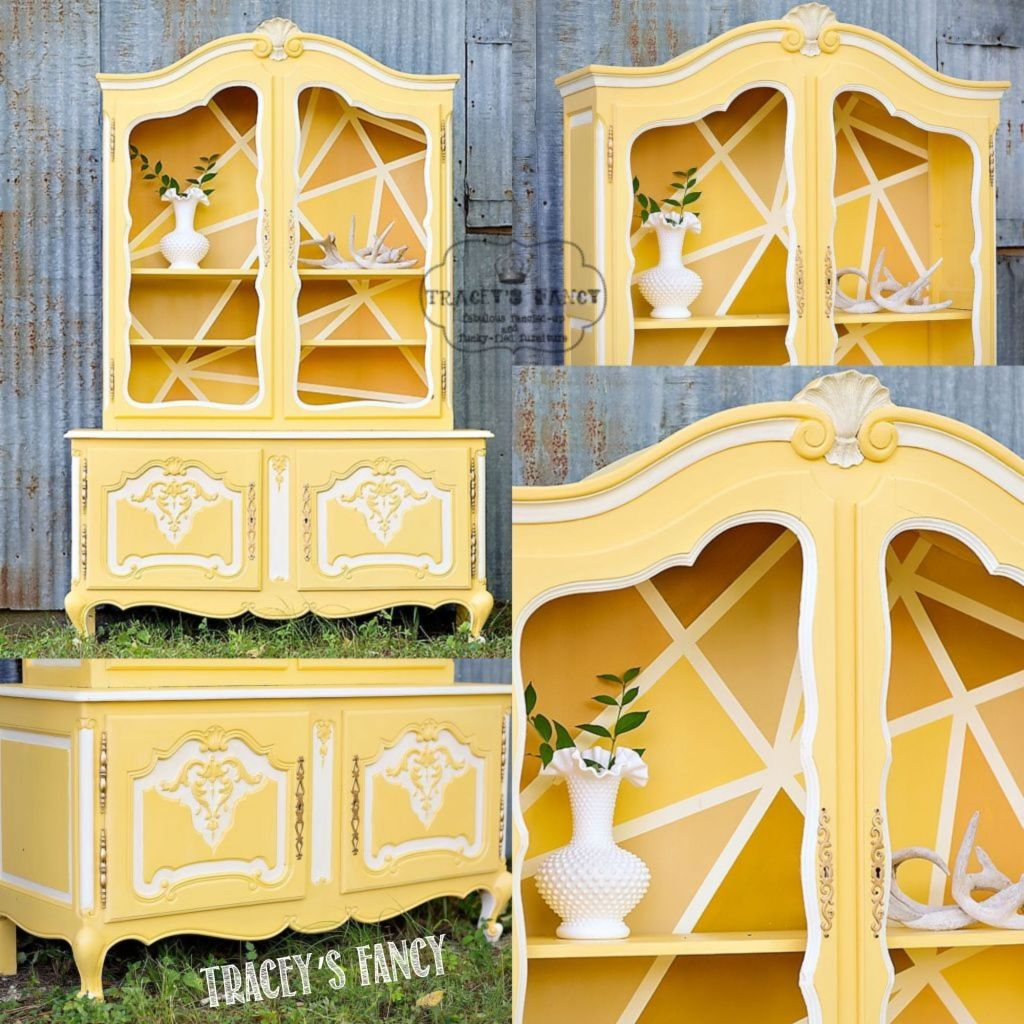 French Yellow Hutch | Tracey's Fancy