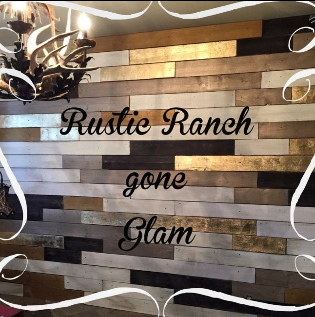 Rustic Metallic Wood Plank Wall in Browns
