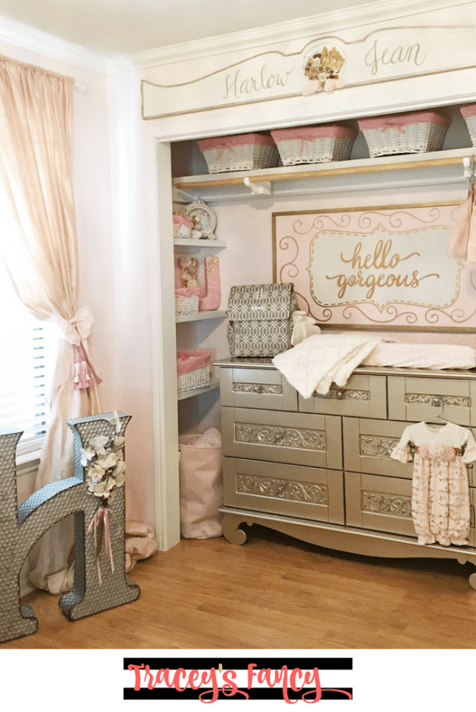 pink and gold nursery decor | Tracey's Fancy