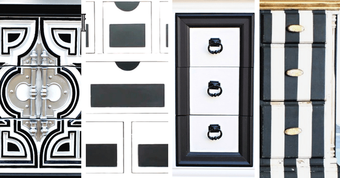 White Painted Furniture Ideas, Black And White Furniture