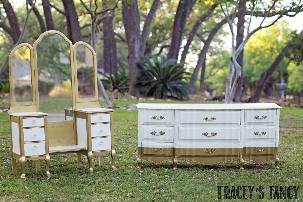 White and Gold Furniture | Tracey's Fancy