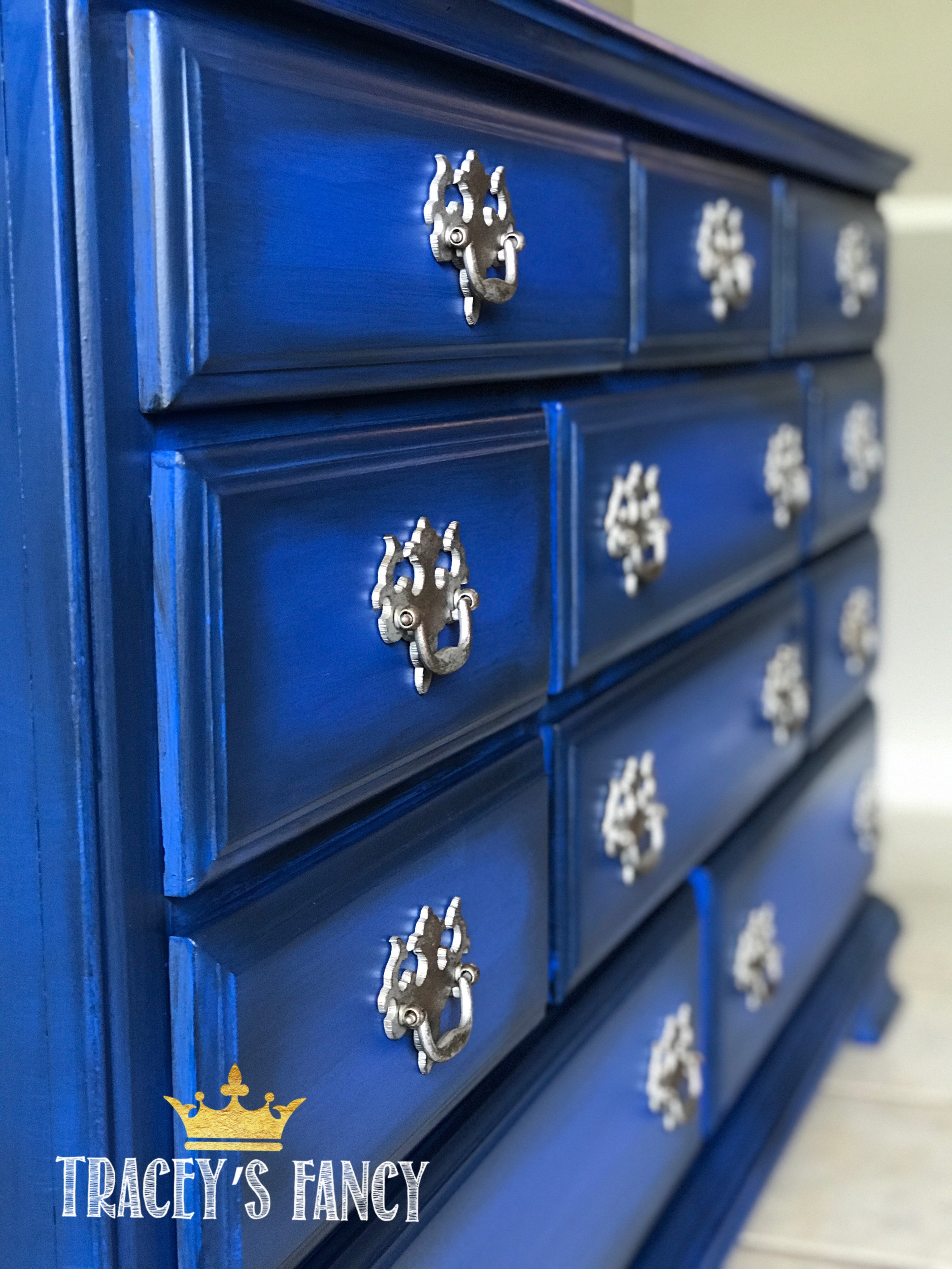 Cobalt Blue Dresser with