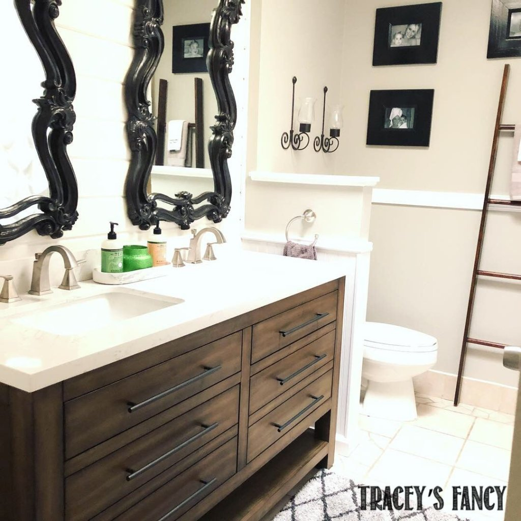 guest bathroom remodel on a budget  tracey's fancy