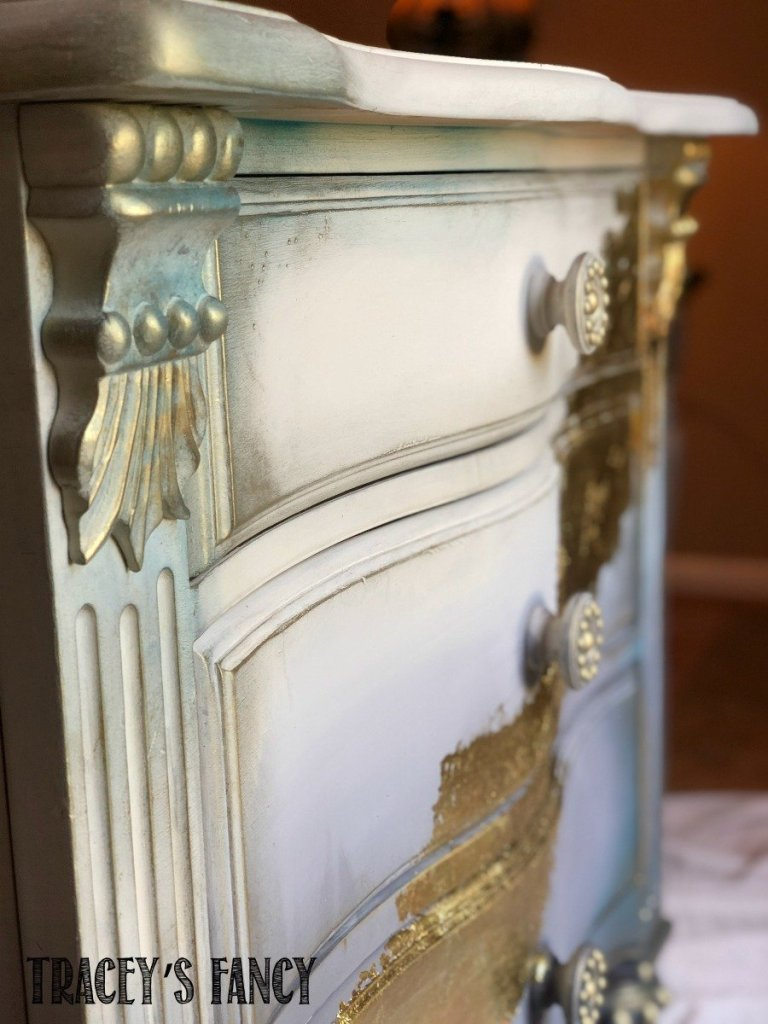 Gold Leaf Ombre Nightstands by Tracey's Fancy