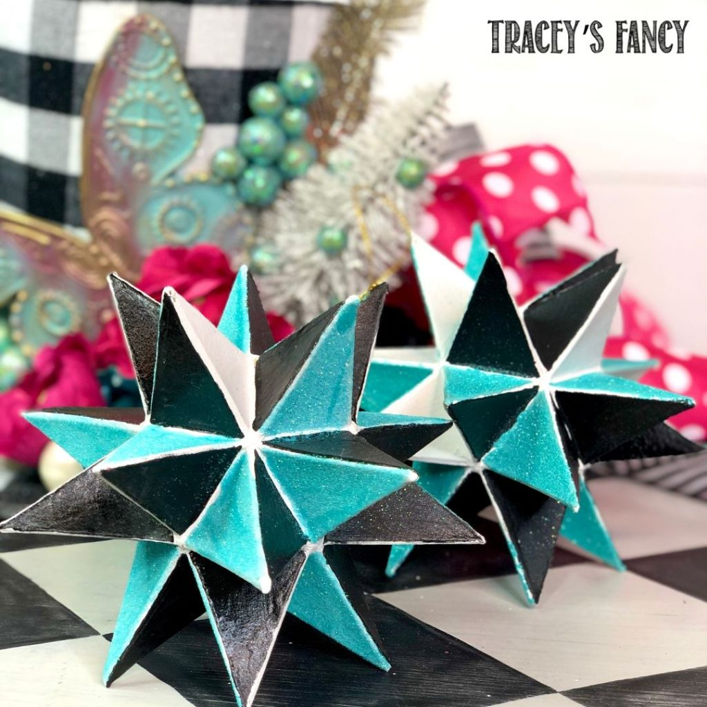 Whimsical moroccan star tree ornaments | Tracey's Fancy