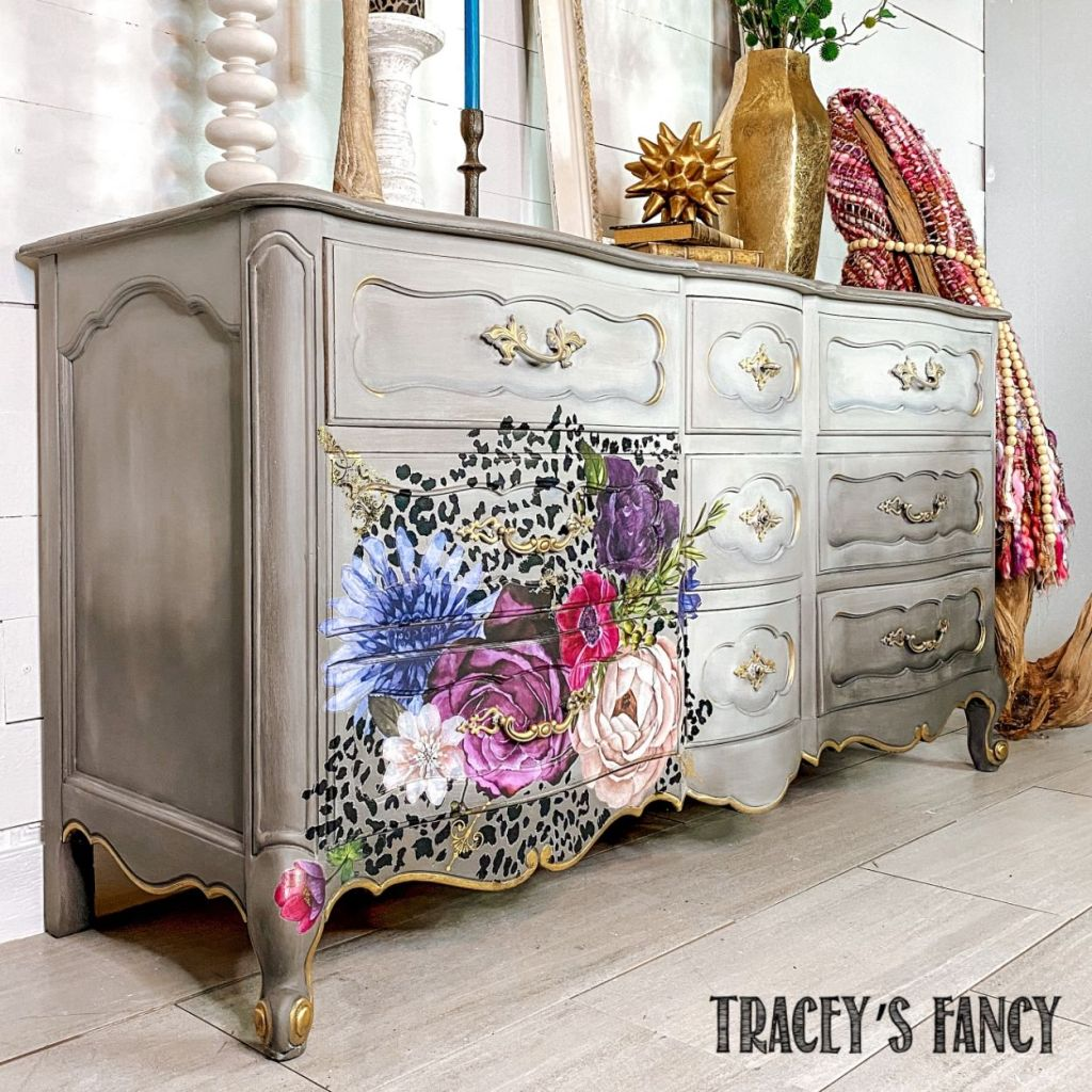 fun yet sophisticated Leopard Floral Dresser | Tracey's Fancy