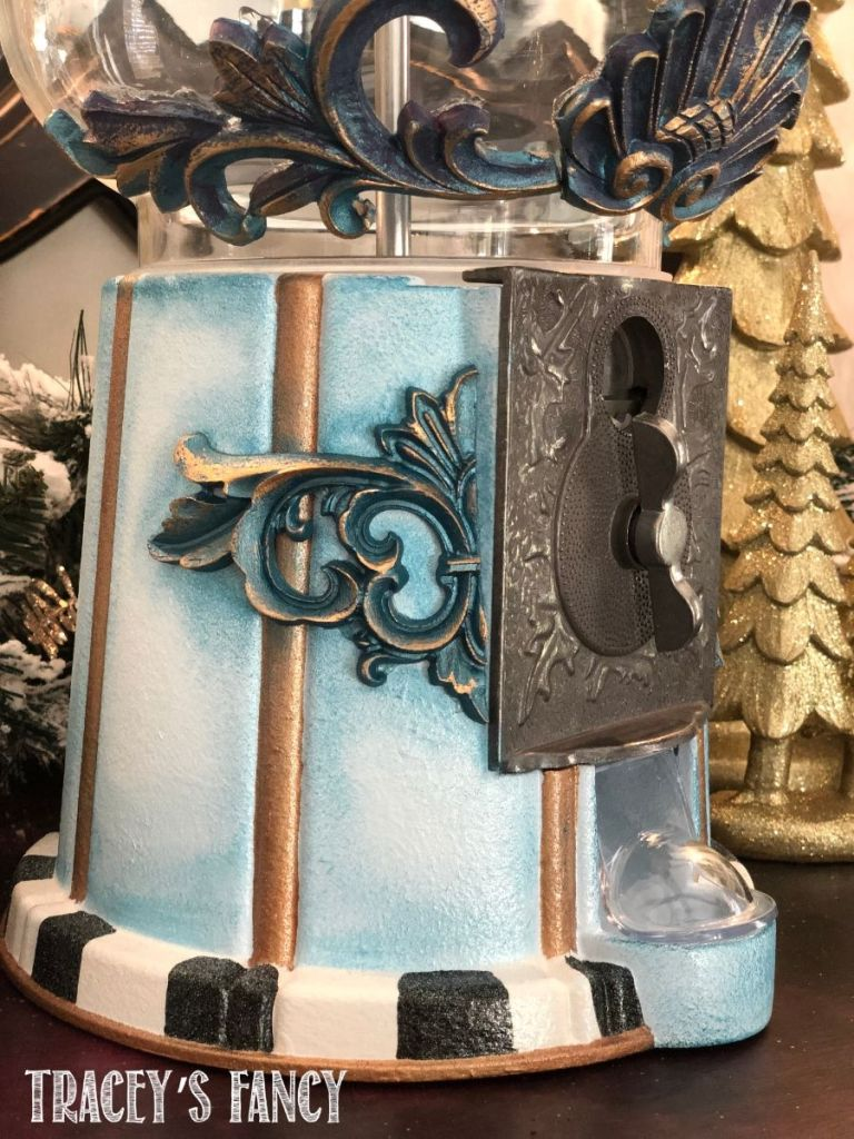DIY painted carousel gumball machine by Tracey's Fancy