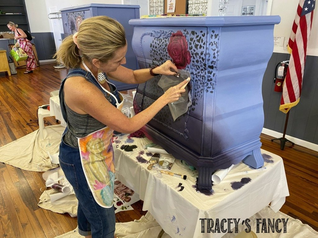 Create Boldly Florida | Traceys Fancy | adding transfers for a total transformation