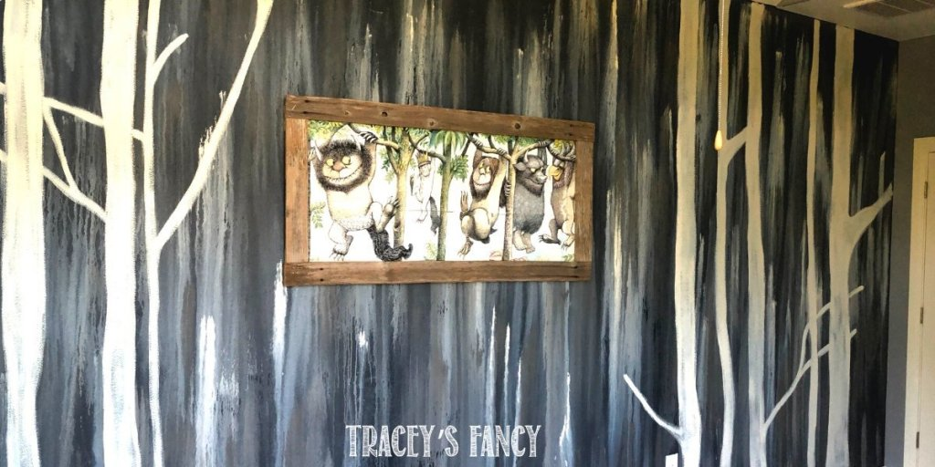 Where the Wild Things Are water washed wall mural | Tracey's Fancy