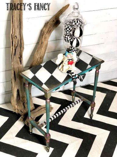 Whimsical Carnival Side Table | Tracey's Fancy