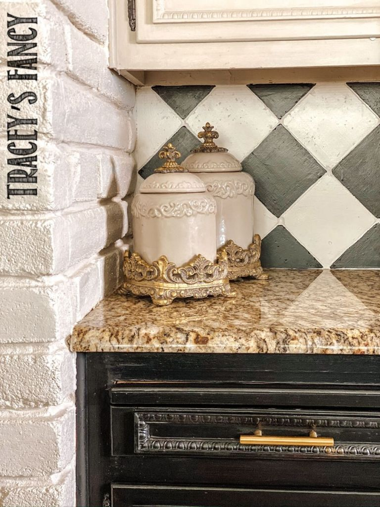 How to paint backsplash tiles by Tracey's Fancy