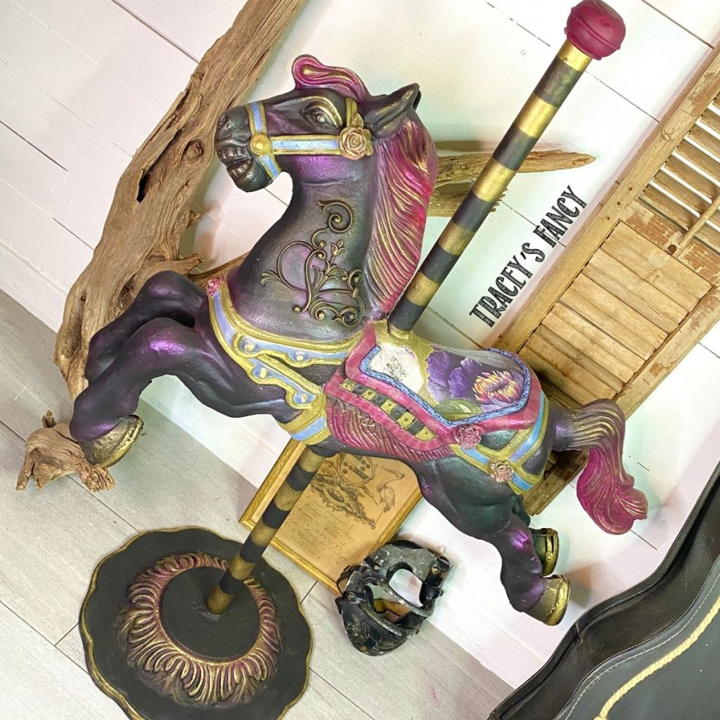 painted carousel horse | Tracey's Fancy