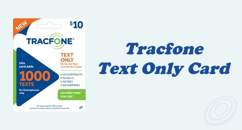 Buy Extra Texts with Tracfone Text Only Card