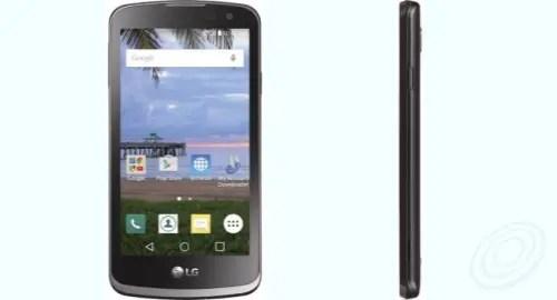 Tracfone LG L44VL Rebel LTE front side