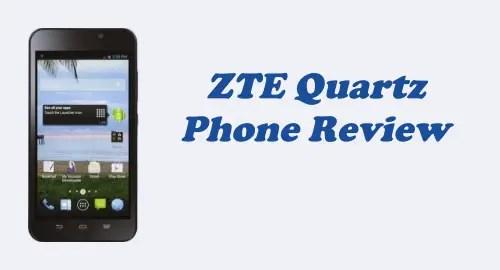 Tracfone ZTE Quartz (Z797C) Review