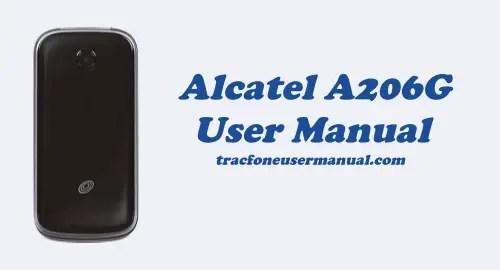 Tracfone Alcatel A206G User Manual Guide