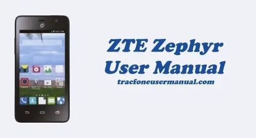 Tracfone ZTE Zephyr Z752C User Manual