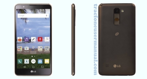 Tracfone LG Stylo 2 LTE L81AL front back side