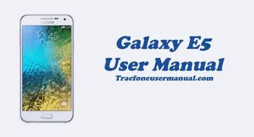 Tracfone Samsung Galaxy E5 S978L User Manual Guide