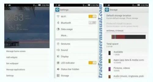 Tracfone Alcatel Pop Star A845L front side back screenshot