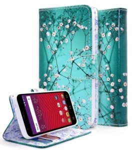 Alcatel PIXI Bond Flip Fold Wallet Case by NageBee