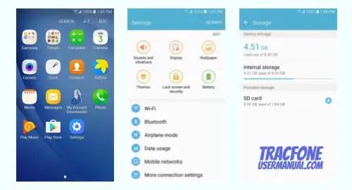 TracFone Samsung Galaxy On5 S550TL screenshot