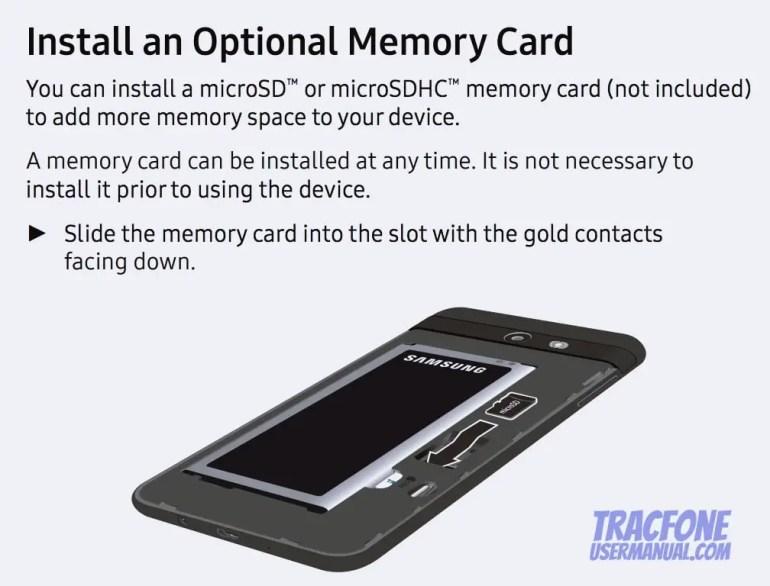 Galaxy J7 Install microSD Card