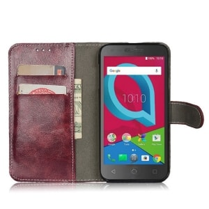 Alcatel Raven Leather Wallet Case by Telegaming