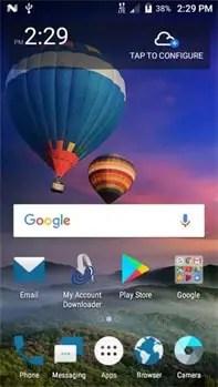 ZTE Majesty Pro Plus Home Screen