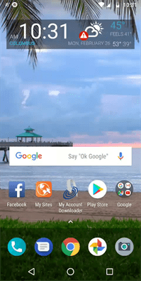 Moto G6 Home Screen