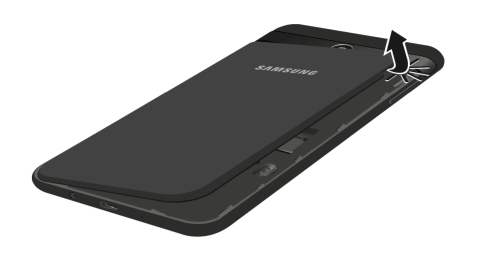 Removing the Back Cover Samsung Galaxy J7 Sky Pro