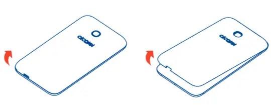 Removing the Back Cover Alcatel PIXI Unite