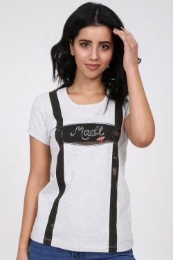 Trachten Shirt Suspender (ecru/braun)