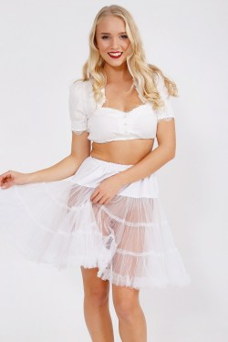 Dirndl Petticoat weiß